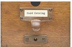 Card Catalog notecards from Chronicle Books