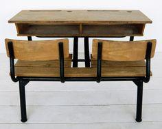 Back-To-School Desks — Ohdeedoh in Europe - France School Desks, Vintage School, Kids Furniture, Vintage Toys, Dupont, School Stuff, Homeschool, Childhood, Images