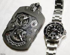 Urwerk UR1001 vs Rolex Deepsea