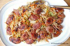 Gourmet Girl Cooks: Stir-Fried Sausage & Slaw - Low Carb Fast Food