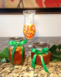 Chili & Cornbread In Mason Jars Gift Idea
