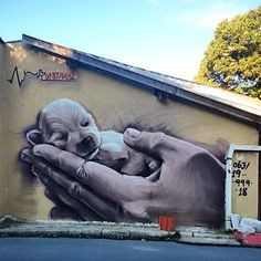 Belgrade street art by unidentified artist via @vatovec
