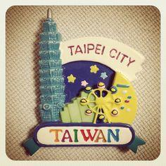 台湾の台北シティのマグネットです。台北101やら大観覧車「摩天輪」が。台湾は親日家が多いし、ご飯は美味しいし、日本から近いし最高です☆