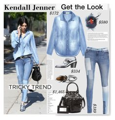 """""""No 262:Tricky Trend: Patchwork Denim (Kendall Jenner)"""" by lovepastel ❤ liked on Polyvore featuring Barbara Bui, Balenciaga, Fendi, women's clothing, women, female, woman, misses, juniors and patchworkdenim"""