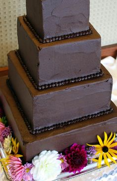 Maggie and Steve's Ultra Chocolate Wedding Cake (and how I assembled it) — Zoe Bakes