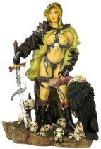 Cloaked Amazon Warrior Fantasy Figurine Statue