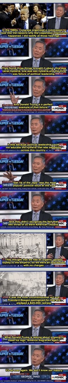 George Takei has a vital message for those misusing and misremembering Japanese internment.