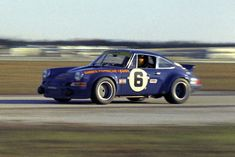The Roger Penske prepared Porsche 911 Carrera RS. Like the Brumos Porsche it was owned by the Porsche factory. It was driven by Mark Donohue and George Follmer.