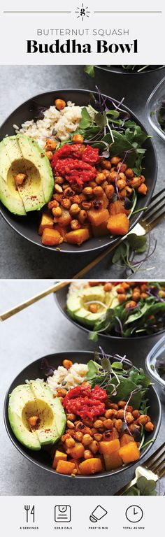 This Butternut Squash Buddha Bowl recipe is one of our favorite meal prep recipes from our 4 week meal program, HGG Reset!  It's bursting with delicious flavors and is sure to leave you feeling satisfied. You can't go wrong with adding micro greens and harissa sauce!