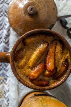 Bananas in unrefined sugar syrup. Just one of the delicious breakfast offerings at Pousada dos Quatro Cantos in Olinda, Brazil | heneedsfood.com