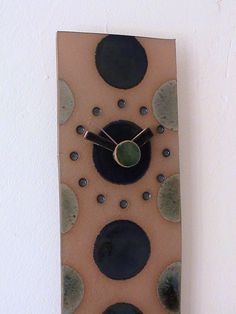 Ceramic wall clock by KnowingTheTime on Etsy, €74.00