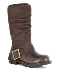 Take a look at this Chocolate Waterproof Leather Hudson Boot - Women by Bogs on #zulily today!