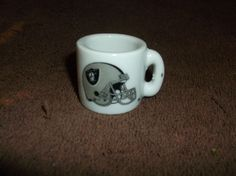 Vintage NFL Oakland Raiders Miniature Football MUG!!! #OaklandRaiders