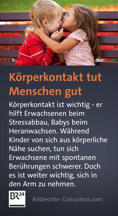#Körperkontakt ist wichtig - er hilft Erwachsenen beim #Stressabbau, #Babys beim Heranwachsen. Während #Kinder von sich aus körperliche #Nähe suchen, tun sich Erwachsene mit spontanen #Berührungen schwerer. Warum es wichtig ist, sich in den Arm zu nehmen. Der Arm, Babys, Cuddle, Kids, Stress Relief, First Aid, Babies, Baby, Infants