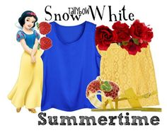 """Snow White"" by tallybow ❤ liked on Polyvore featuring moda, Moschino Cheap & Chic, Accessorize, Crystal Avenue, Disney Couture e Ancient Greek Sandals"
