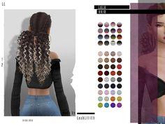 Sims 4 Hairs ~ The Sims Resource: Lala hair by LeahLillith The Sims 4 Pc, Sims Four, Sims 4 Tsr, Sims Cc, Sims 4 Curly Hair, Sims 4 Black Hair, The Sims 4 Cabelos, Pelo Sims, Sims 4 Gameplay