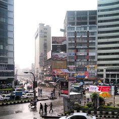 A wet afternoon in Gulshan 2 #Dhaka #Bangladesh #monsoon #rain ...