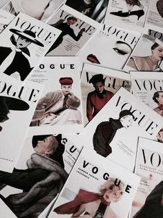 A pile of Vogue magazines. A pile of Vogue magazines. You can find Magazines and more on our website.A pile of Vogue magazines. A pile of Vogue magazines. Mode Collage, Aesthetic Collage, White Aesthetic, Aesthetic Bedroom, Flatlay Instagram, Vogue Vintage, Fashion Vintage, Mode Poster, Vogue Photography