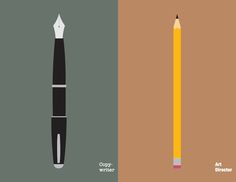Ilustraciones Copywriter vs Director de Arte