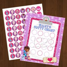 Doc Mcstuffins Potty Training Chart  YOU PRINT by lovebuggydesigns, $5.99