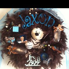 The wreath I made for my sisters hospital door when my new nephew arrives