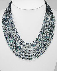 statement crystal glass necklace