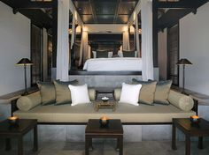 built in oversized daybed for outdoor lounge space @Matty Chuah Nam Hai, Hoi An, Vietnam [2]