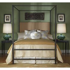 Wesley Allen Quincy California King Bed with Canopy WA-CBC1327CK