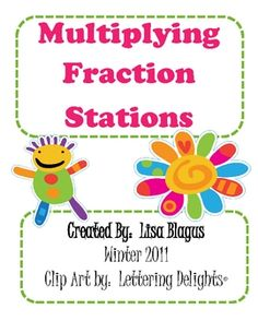 This is a 14-page station activity where a teacher can set up 6 stations around the room to review multiplying fractions. Some of the problems wil... Sixth Grade Math, Fourth Grade Math, Multiplying Fractions, Multiplication, Math Classroom, Future Classroom, Teaching Math, Teaching Ideas, Common Core Math