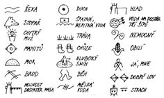 Indiánské písmo Indiana, It Cast, Education, Montessori, Projects, Horoscope, America, Log Projects, Educational Illustrations