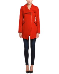 French Connection Royal Scarlet Wool Blend Cut Away Coat is on Rue. Shop it now.
