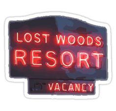 Pretty Little Liars - Lost Woods Resort Sticker