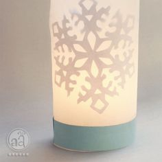 a tutorial on how to make a cozy, winter-themed   TEA-LIGHT HOLDER   with paper snowflake decoration       what you will need:      •...