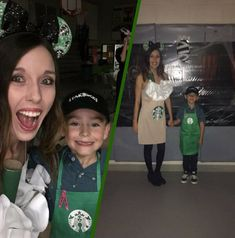 This Starbucks mommy and me Halloween costume is simply amazing! Check out the post for creative costume ideas and awesome Halloween costume inspiration!