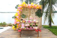 Ideias para festa infantil tema Flamingo – Como fazer uma festa linda com ótimo custo-benefício – Blog Bella Fiore 16th Birthday, Birthday Celebration, Girl Birthday, Birthday Parties, 30th Party, Luau Party, Diy Party, Moana Party, Flamingo Party