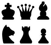 chess symbol silhouettes
