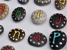 DIY Gifts -- Alphabet Pebbles
