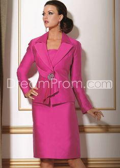 Fabulous Sheath/Column Square Neckline Knee-Length Mother of the Bride Dresses
