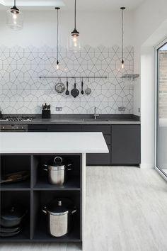 Фото из статьи: Кухонный фартук: 29 необычных и красивых примеров
