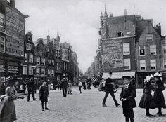 Gezicht op de heerenstraat (later meent) gezien vanaf de goudsesingel 1910