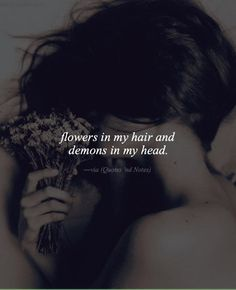 Flowers in my hair and demons in my head. via (http://ift.tt/2cIcOL0)