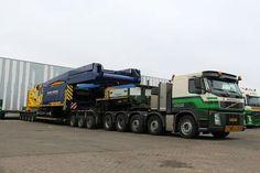 Volvo FH zwaar transport. speciaaltransport. Zwaar kraan.
