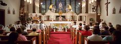 Attend Mass at Our Lady of the Angels Chapel on the Irondale campus of the EWTN Global Catholic Network, where Mass is broadcast four times a day! Mother Angelica, Faith Hope Love, Where The Heart Is, Pilgrimage, Our Lady, Stuff To Do, Places Ive Been, Catholic, Alabama