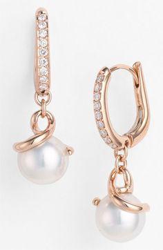 Mikimoto Akyoka Cultured Pearl & Diamond Earrings available at #Nordstrom