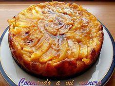 ¡Que rica esta receta de tarta de manzana! Eso sí, tengo que decir que el mérito no es mio, sino de mi marido que la hace deliciosa. Tanto que yo no me he atrevido nunca a prepararla, porque…
