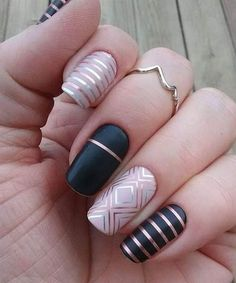 you should stay updated with latest nail art designs, nail colors, acrylic nails. New Nail Designs, Nail Designs Spring, Acrylic Nail Designs, Acrylic Nails, Tribal Designs, Pedicure Designs, Spring Design, Gold Nails, Pink Nails