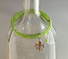 Wrap style, Czech glass seed beads.