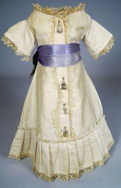 Antique French or German Fashion Doll Dress