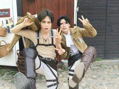 Reika x Kaname | Levi x Eren Attack on Titan cosplay