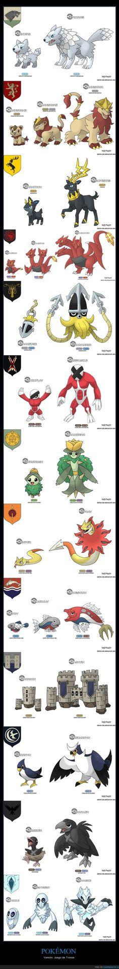 Pokemon mixed with Game Of Thrones #pokemon #GOT